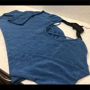 Bobeau Blue Periwinkle knit top